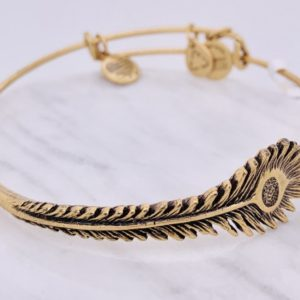 Alex and Ani Peacock Feather Gold
