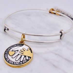Alex and Ani Hand in Hand Silver